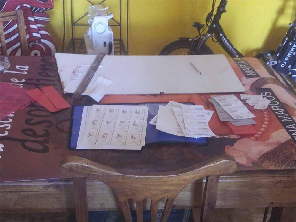 Tarjeta de visita Los Martinez Banco de bicis Alquiler Isidro Ferrer