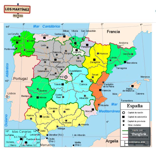 Mapa socios y miembros familia Los Martínez Banco de bicis Alquiler de bicicletas especiales para ocasiones especiales