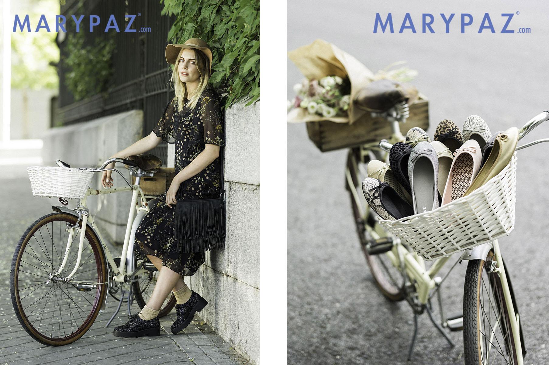 Los Martínez Banco de bicis Alquiler bicicletas Marypaz calzado bailarinas moda