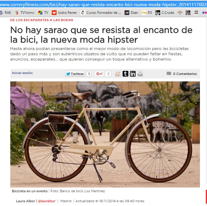 Los Martínez Banco de bicis Alquiler bicicletas autobombo Correr y fitness