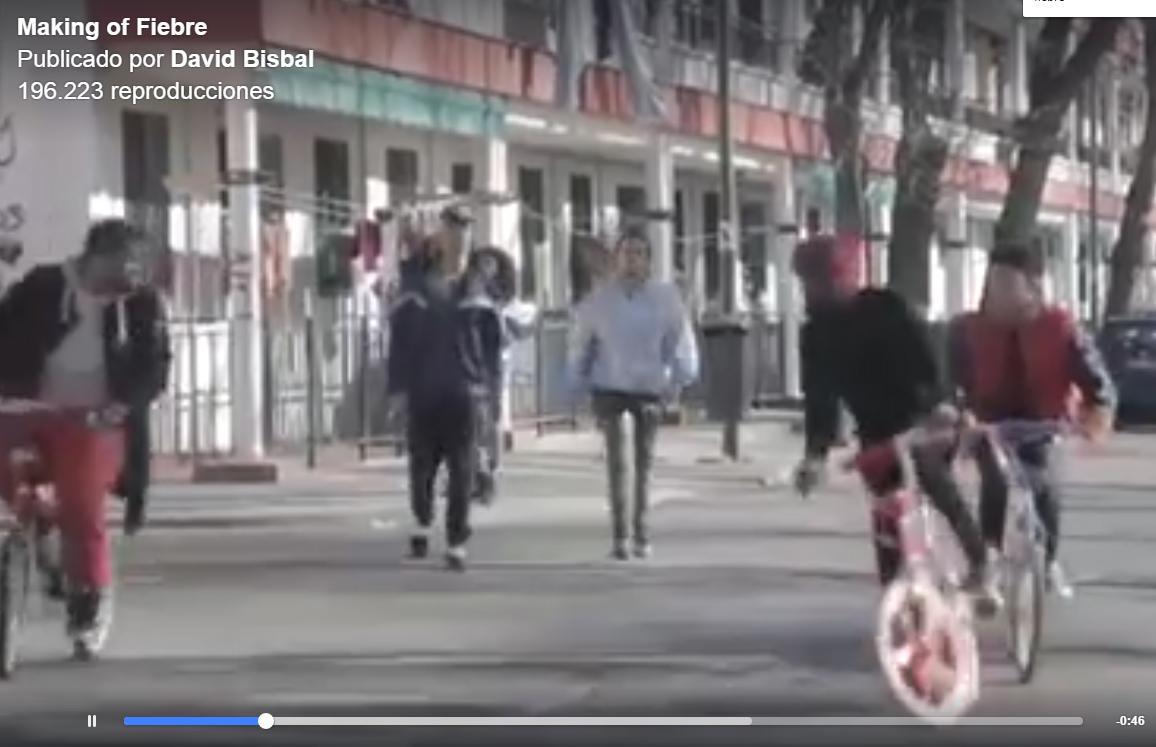 Los Martinez Banco de bicis alquiler de bicicletas especiales videoclip Fiebre David Bisbal BMX makinf of