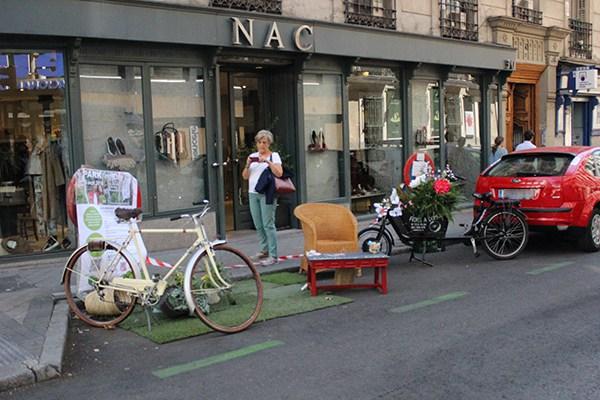 Los Martinez Banco de bicis alquiler de bicicletas parking day 2016 Madrid la comunidad verde